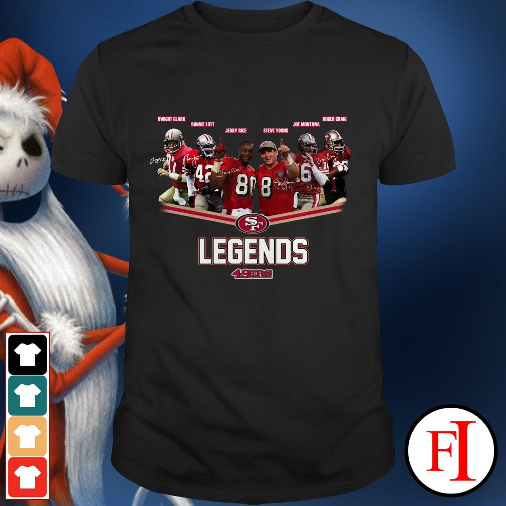 49ers Legends team signatures San Francisco Shirt