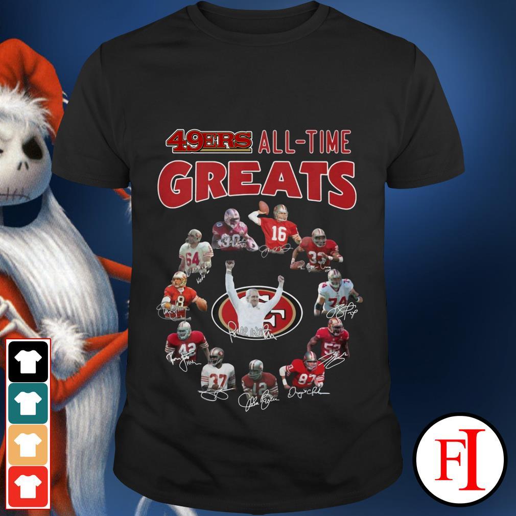 49ers all time greats signatures San Francisco shirt