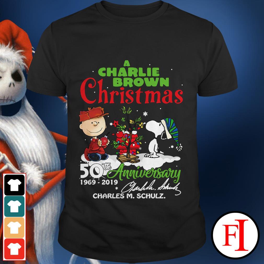 50th Anniversary A Charlie Brown Christmas 1969-2019 signature Shirt