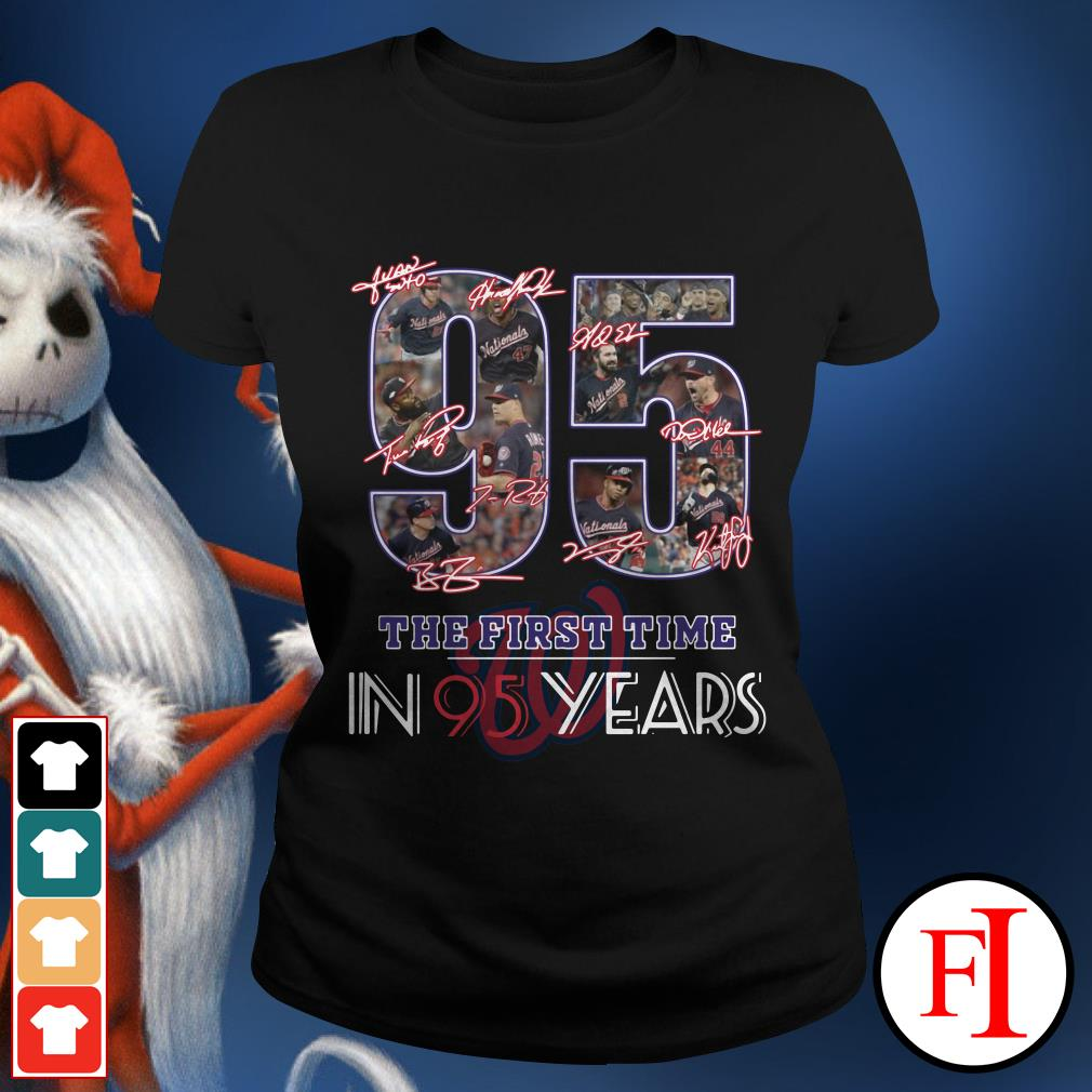 95 the first time in 95 years Washington Nationals Ladies Tee