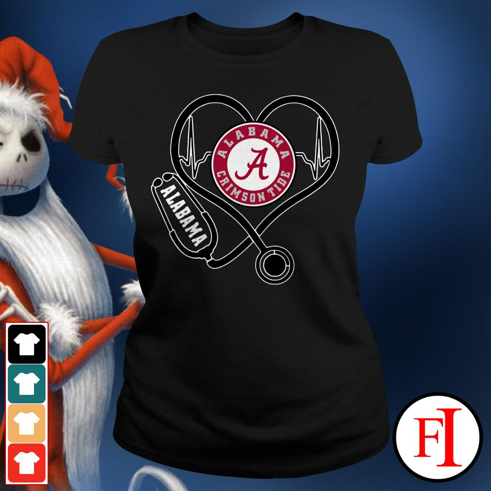 Alabama Crimson Tide Stethoscope Ladies Tee