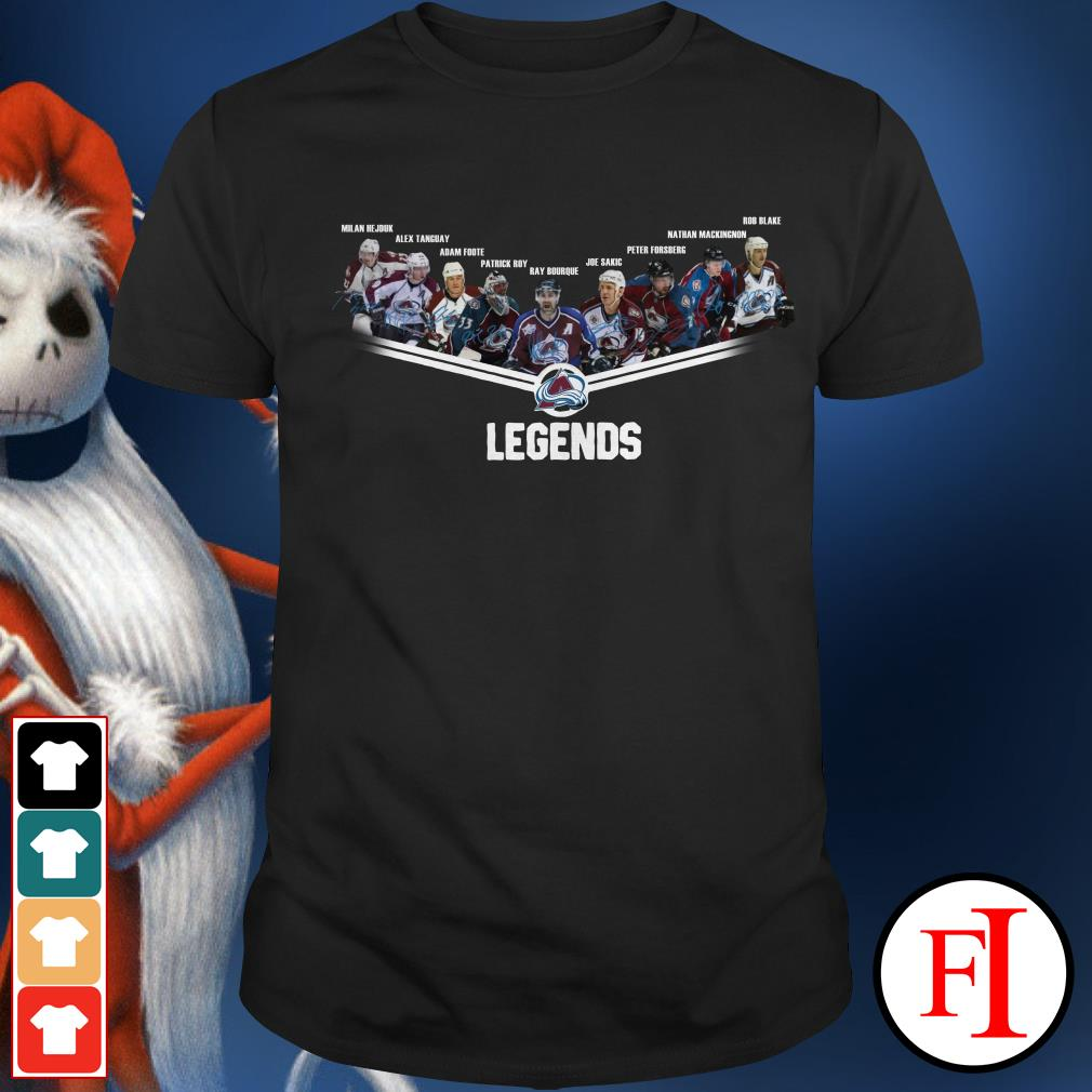 Avalanche legends Colorado signatures Shirt