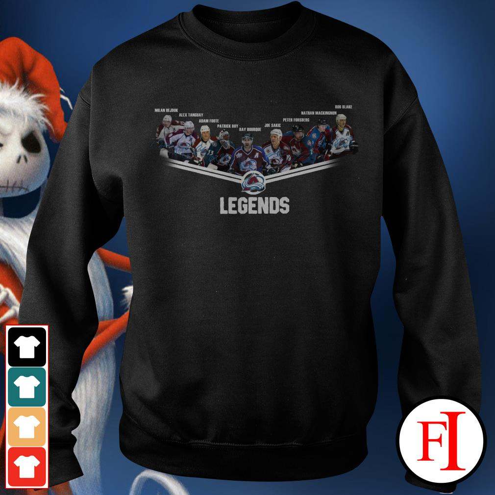 Avalanche legends Colorado signatures Sweater