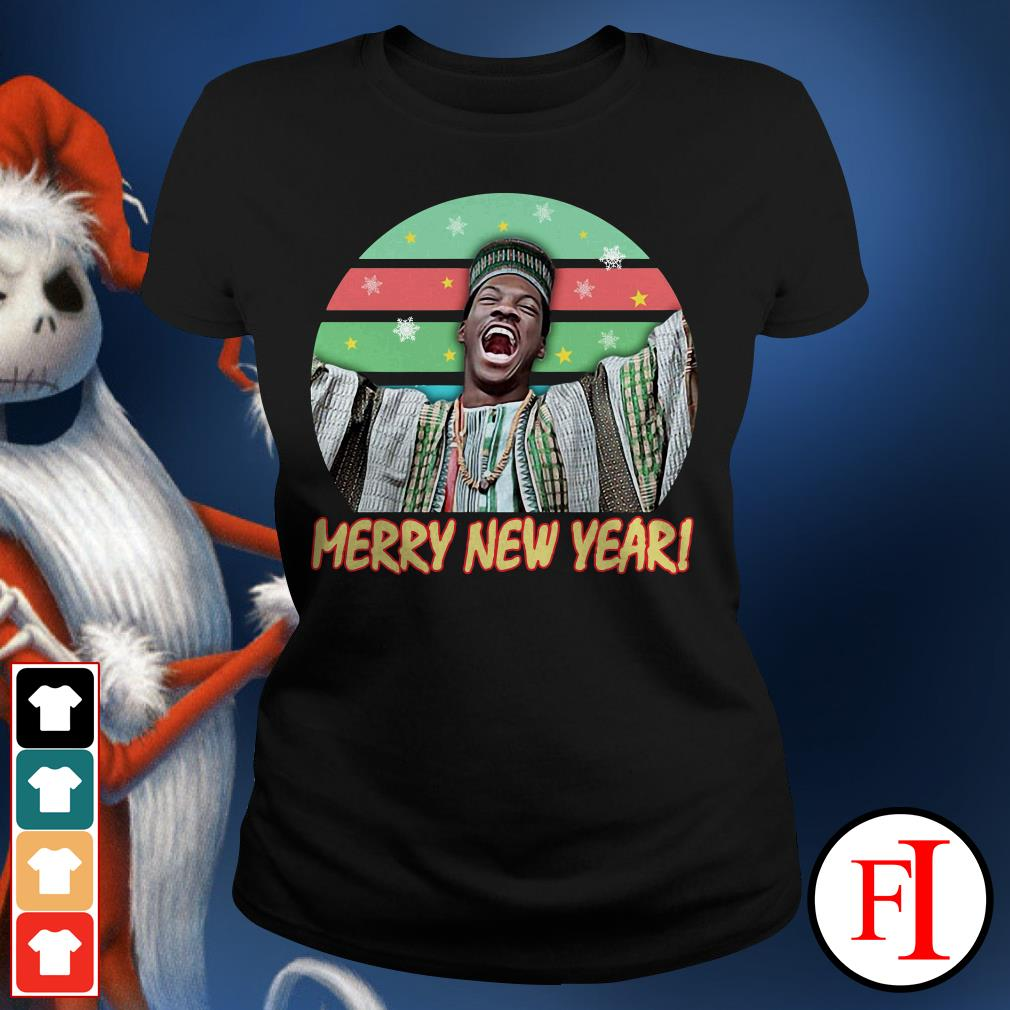 Billy Ray Valentine Merry New Year sunset Ladies Tee