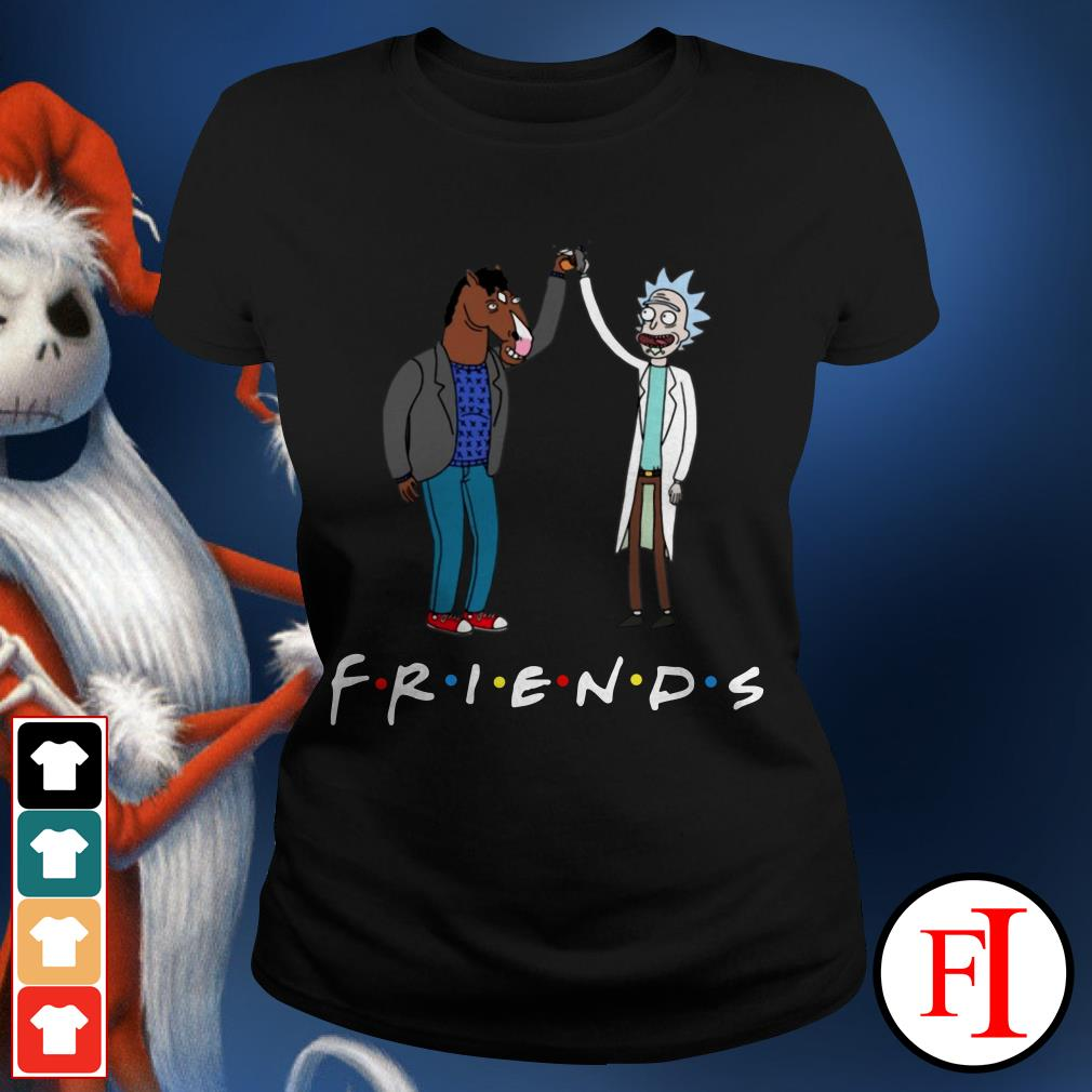 Bojack Horseman and Friends Rick Morty Ladies Tee