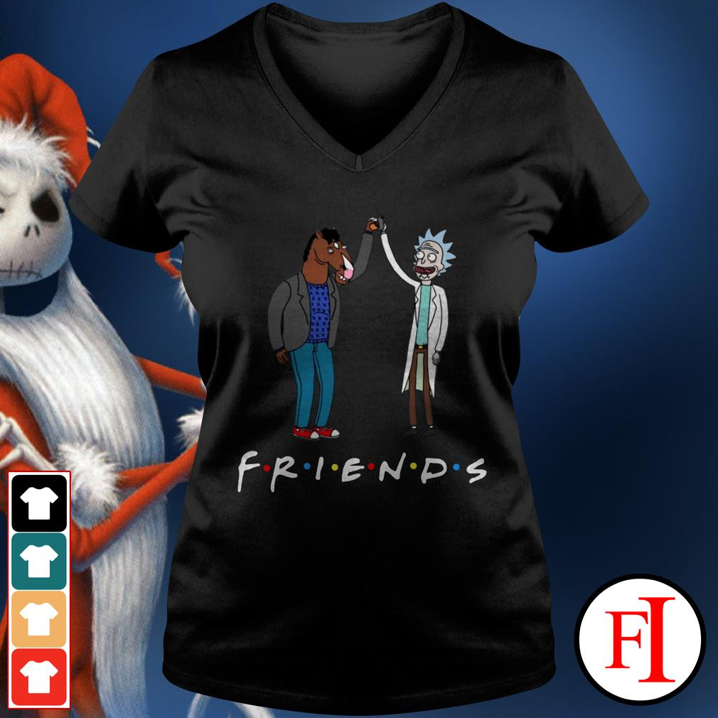 Bojack Horseman and Friends Rick Morty V-neck t-shirt