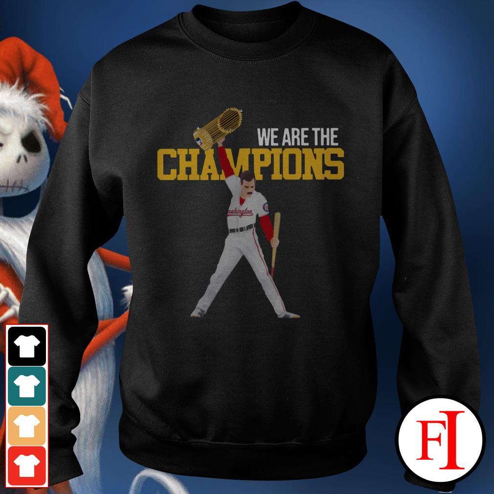We are the champions Washington Nationals Freddie Mercury Sweater