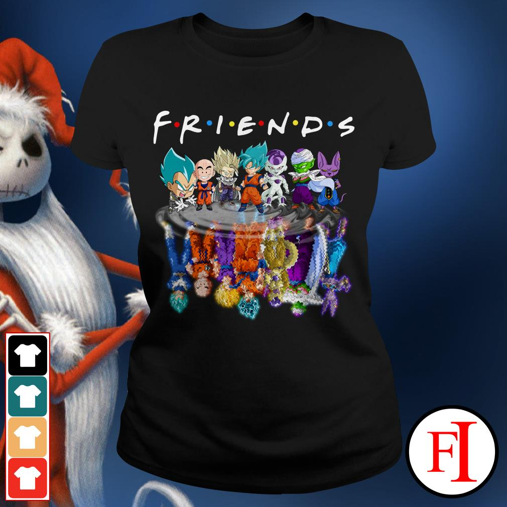 Chibi water reflection mirror Friends Dragon Ball Z Ladies Tee