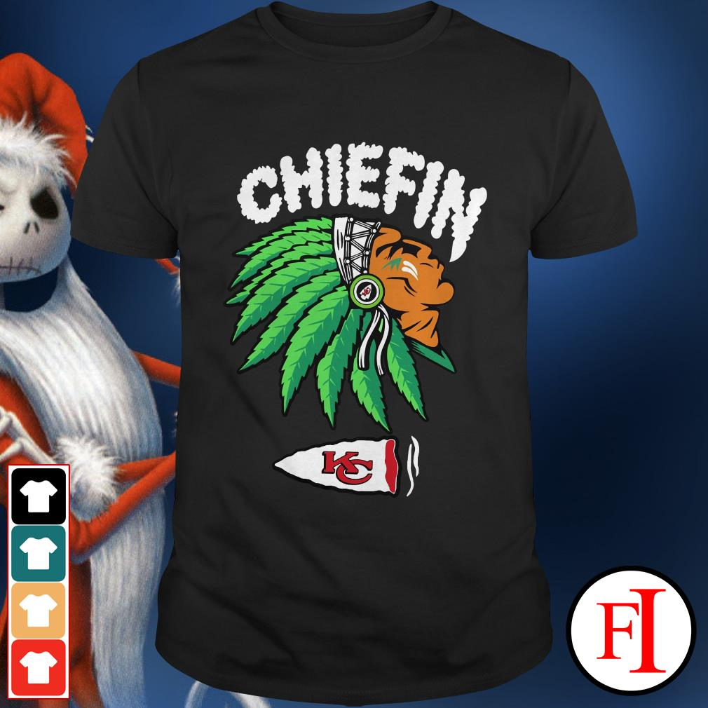 Chiefin weed smoking Indian Kansas City Chiefs Shirt