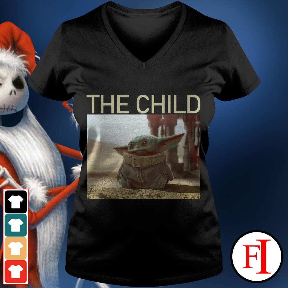 The Child The Mandalorian Baby Yoda V-neck t-shirt