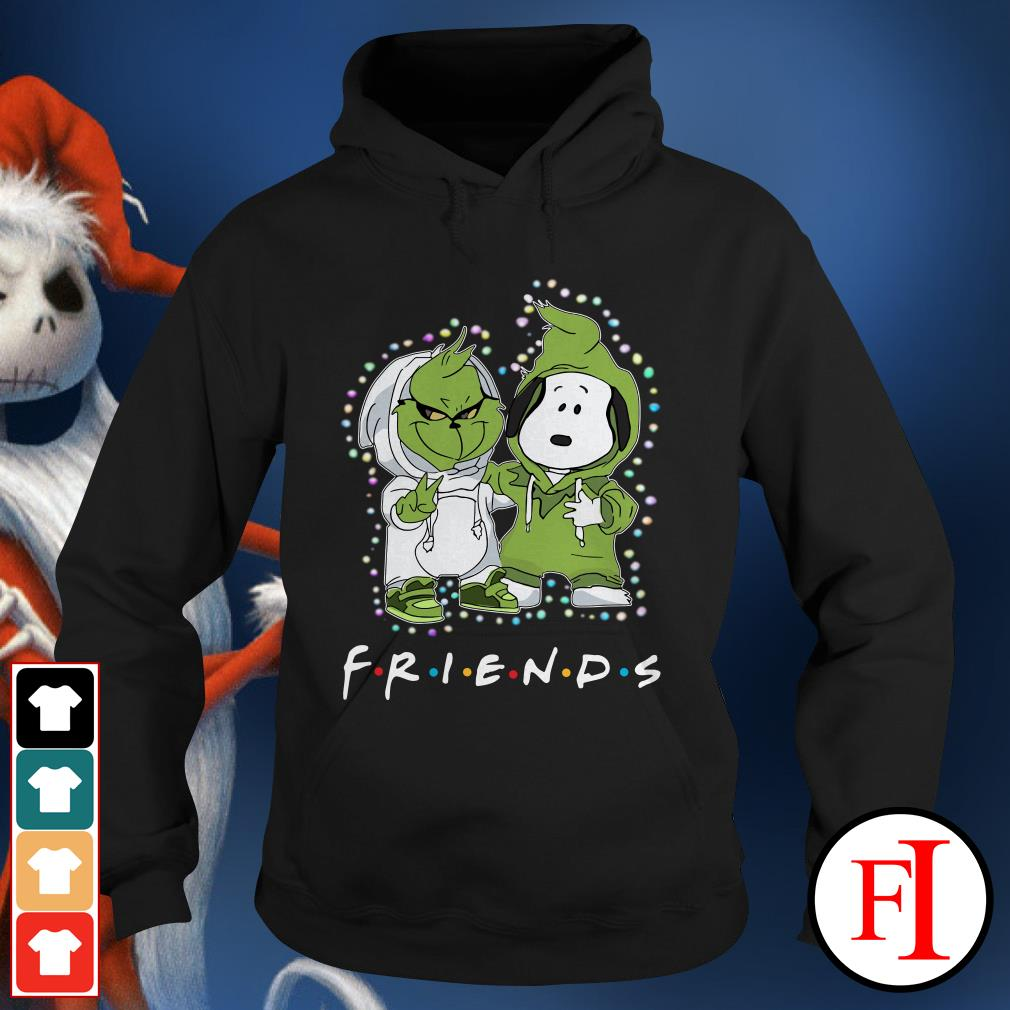 Christmas light Baby Grinch and Snoopy Friends Hoodie