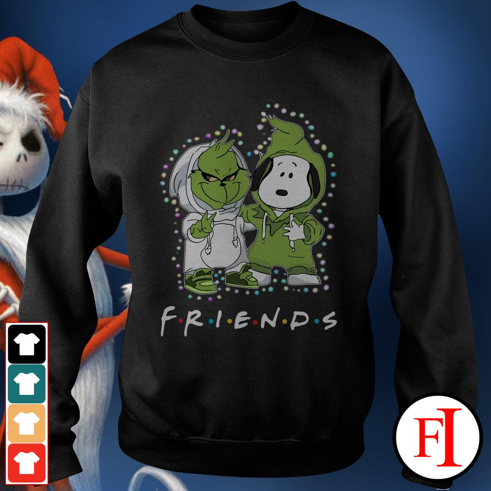Christmas light Baby Grinch and Snoopy Friends Sweater