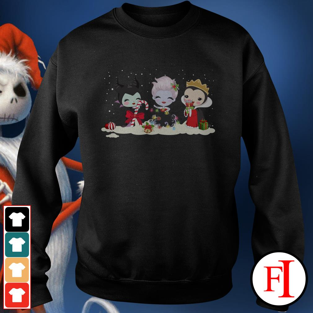 Christmas Maleficent Ursula and Evil Queen chibi characters Sweater