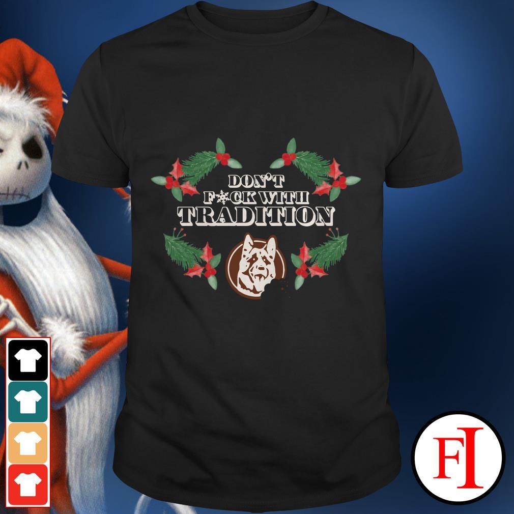 Christmas Marvel German Shepherd don't fuck with tradition shirt
