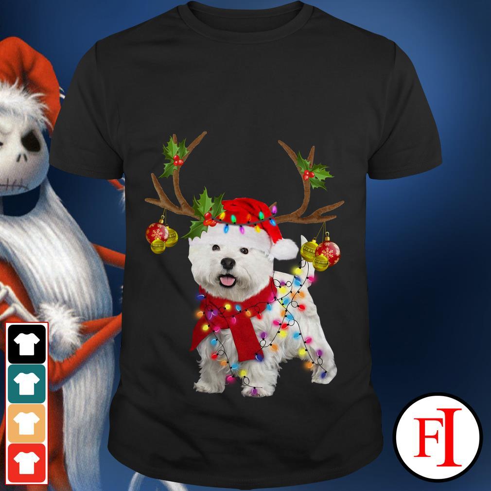 Christmas reindeer Westie gorgeous shirt