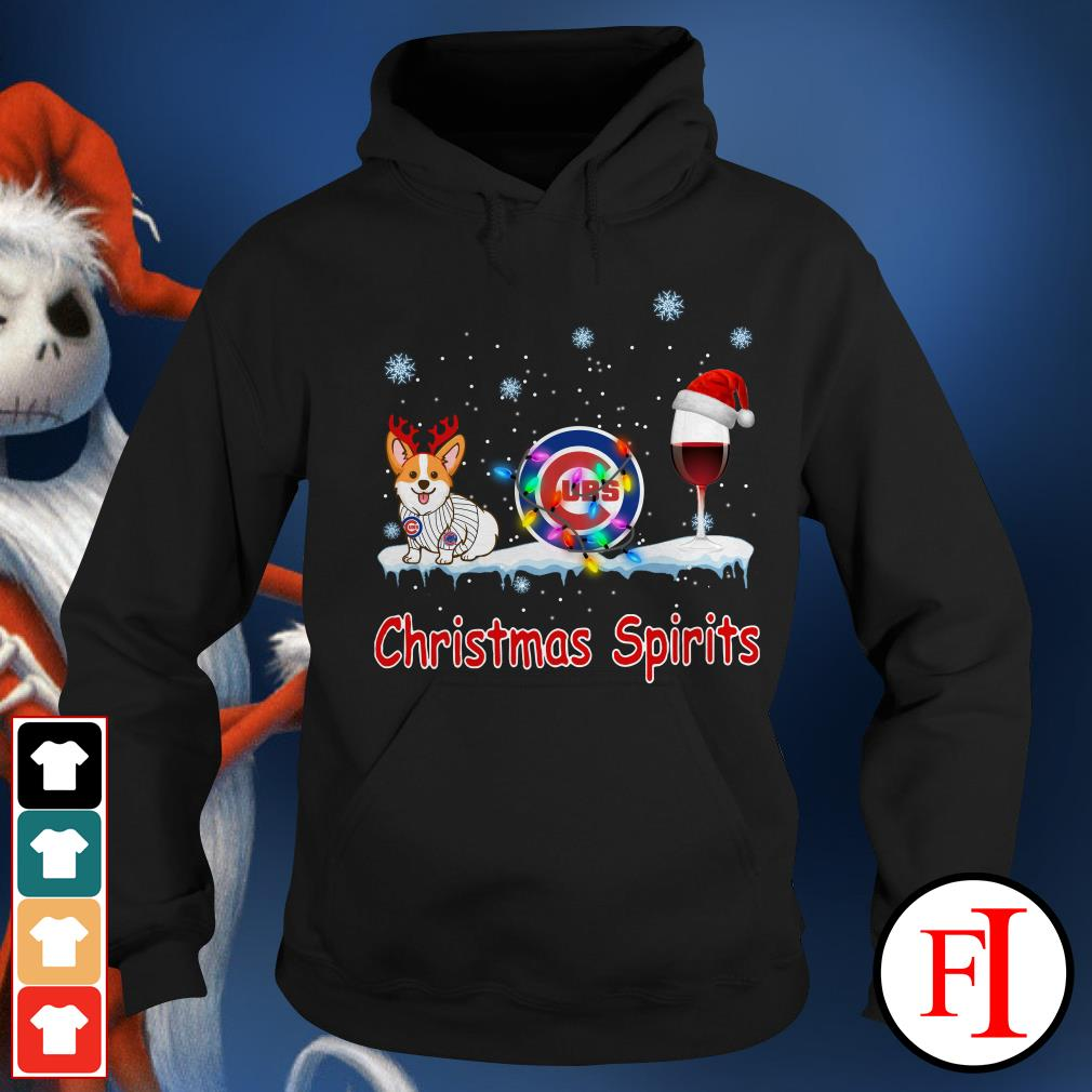 Christmas Spirit Chicago Cubs Corgi Hoodie