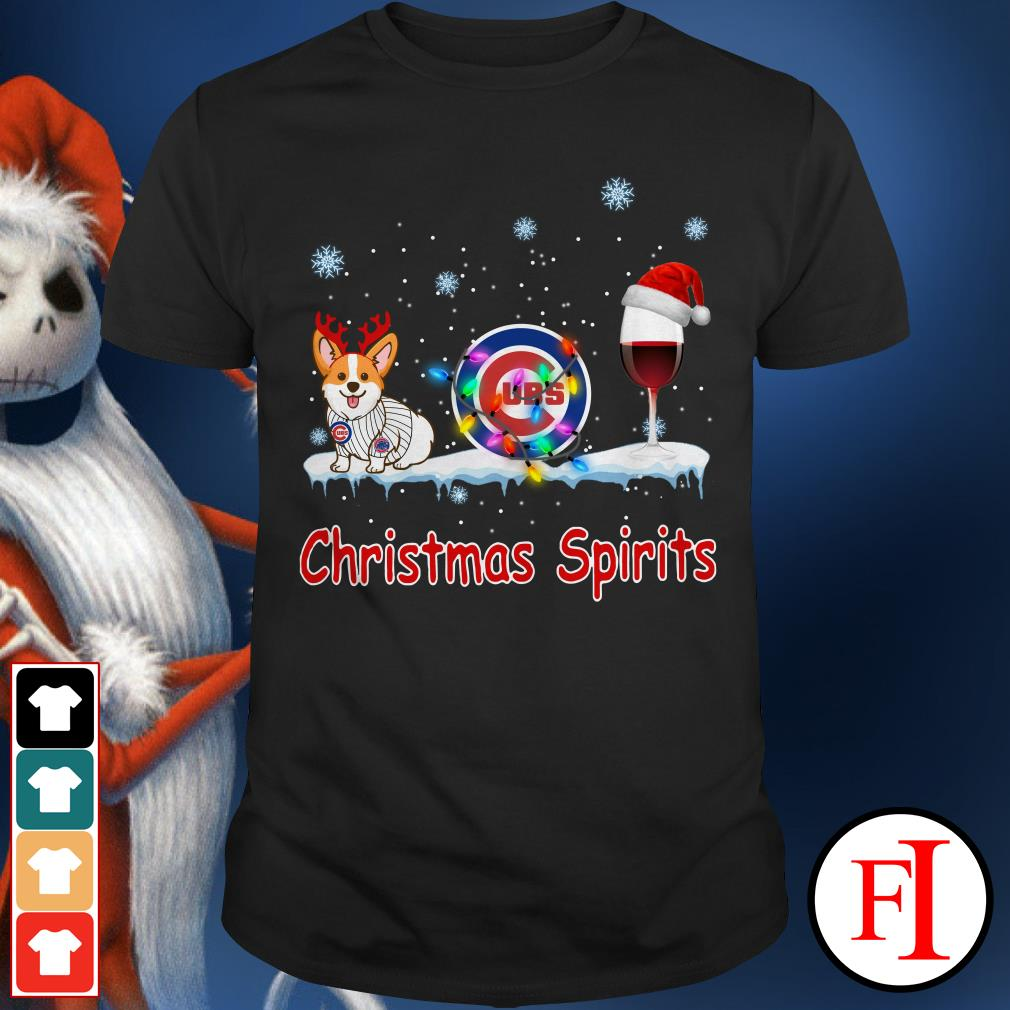 Christmas Spirit Chicago Cubs Corgi Shirt