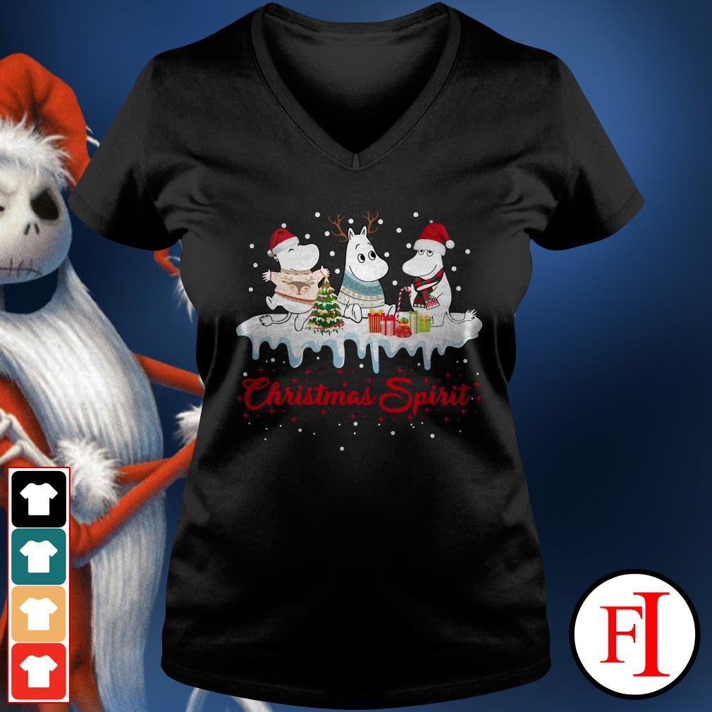 Christmas spirit Moomin V-neck t-shirt