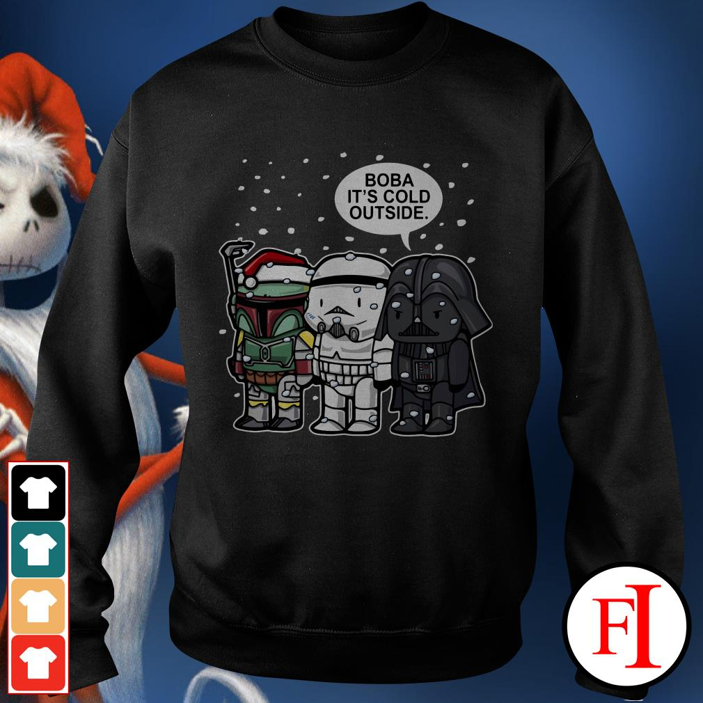 Christmas Star Wars Boba it's cold outside Sweater