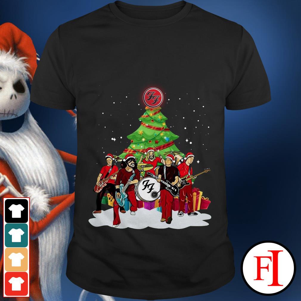 Christmas tree Foo Fighters rock band Santa shirt