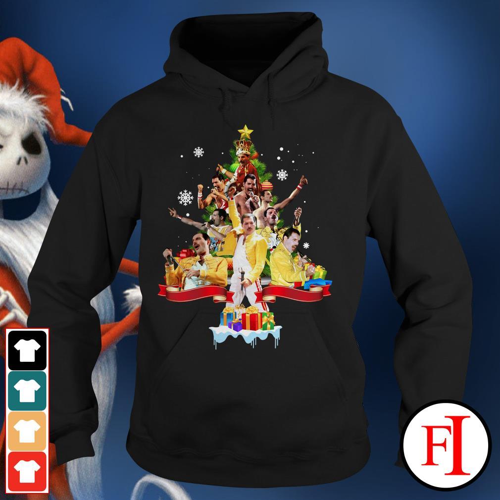 Christmas tree Freddie Mercury Hoodie