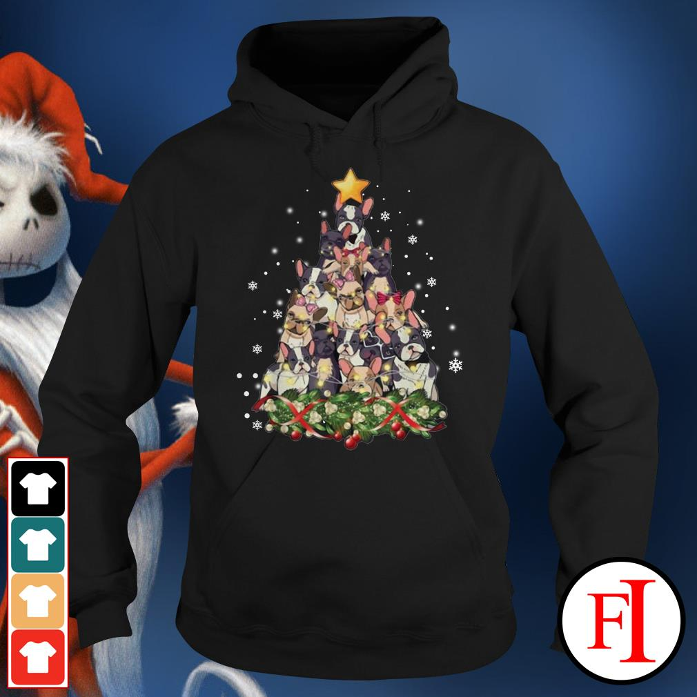 Christmas tree French Bulldog Hoodie