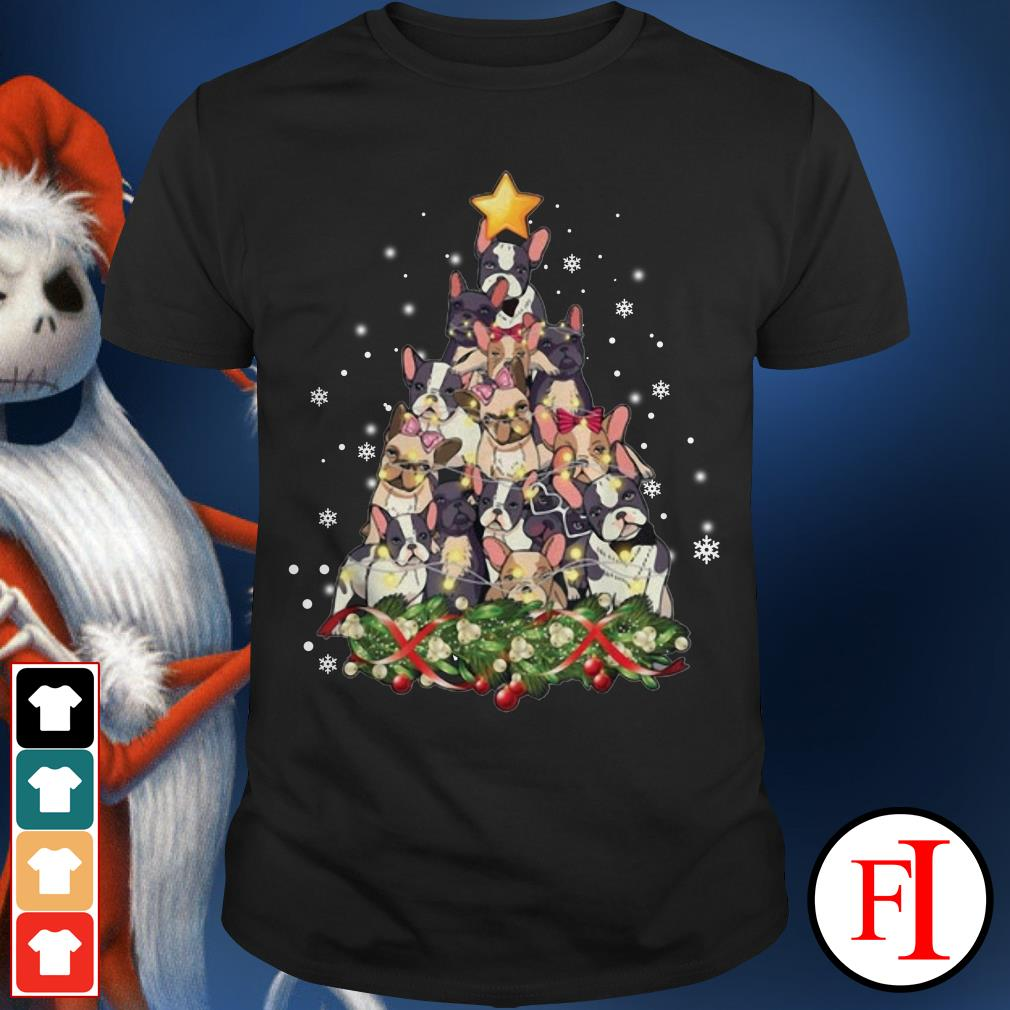 Christmas tree French Bulldog Shirt