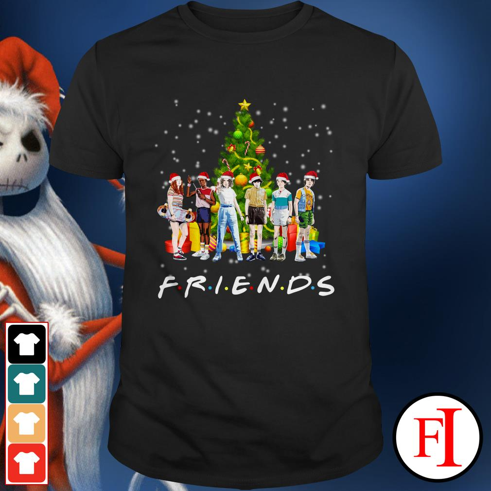 Christmas tree Stranger Things characters Friends Shirt