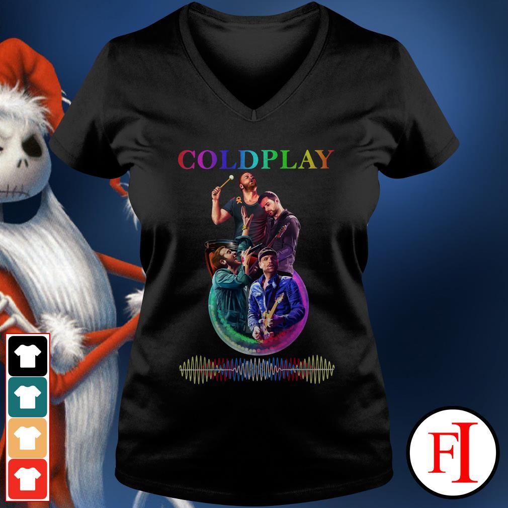 Coldplay poster V-neck t-shirt