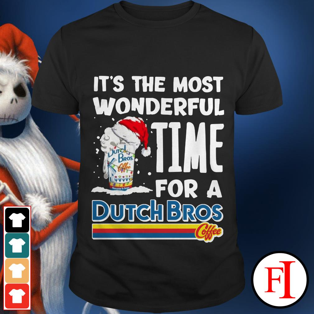 A Dutch Bros Coffee Christmas It's the most Wonderful time shirt