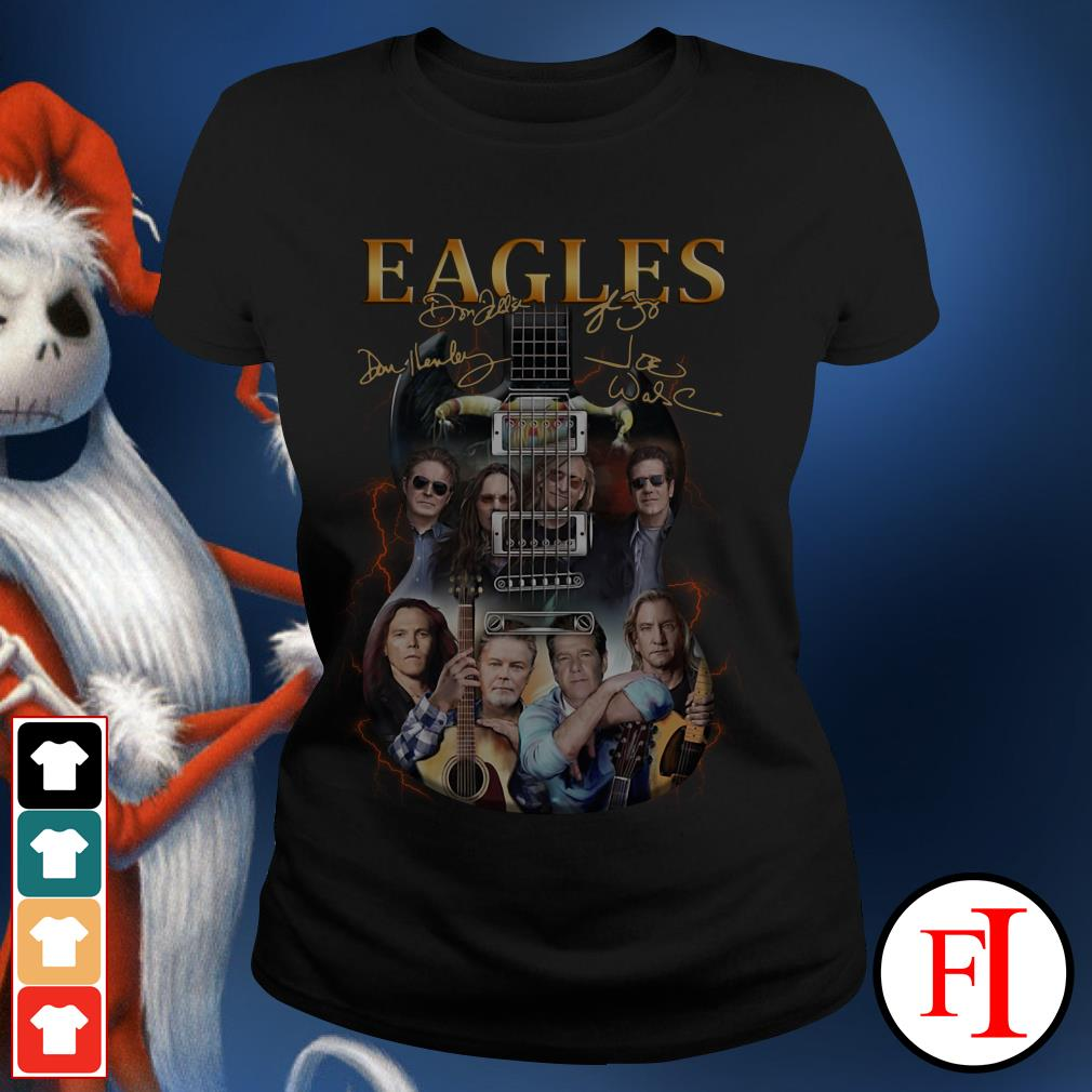 Eagles Rock Band Guitar signature shirt