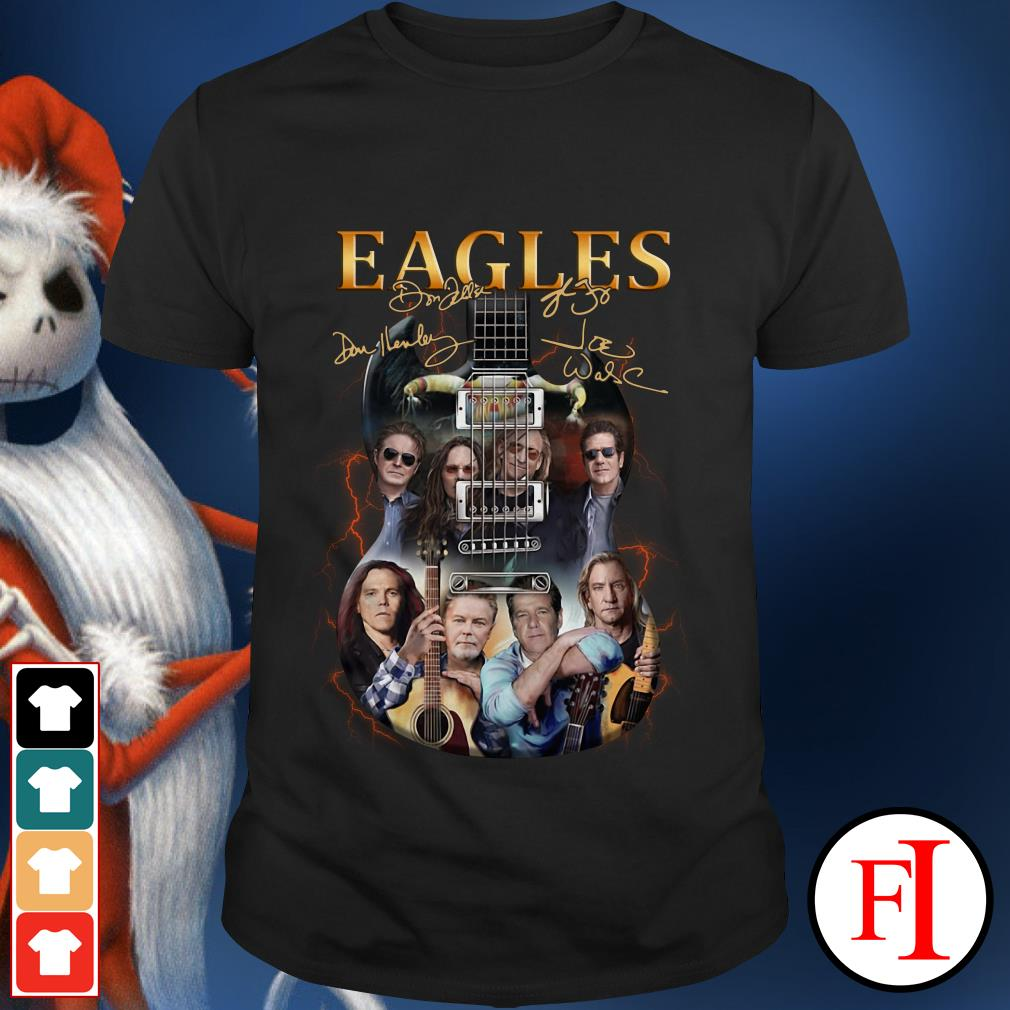 Eagles Rock Band Guitar signature Ladies Tee