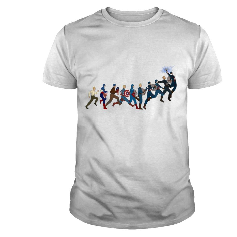 Evolution Captain America's shirt