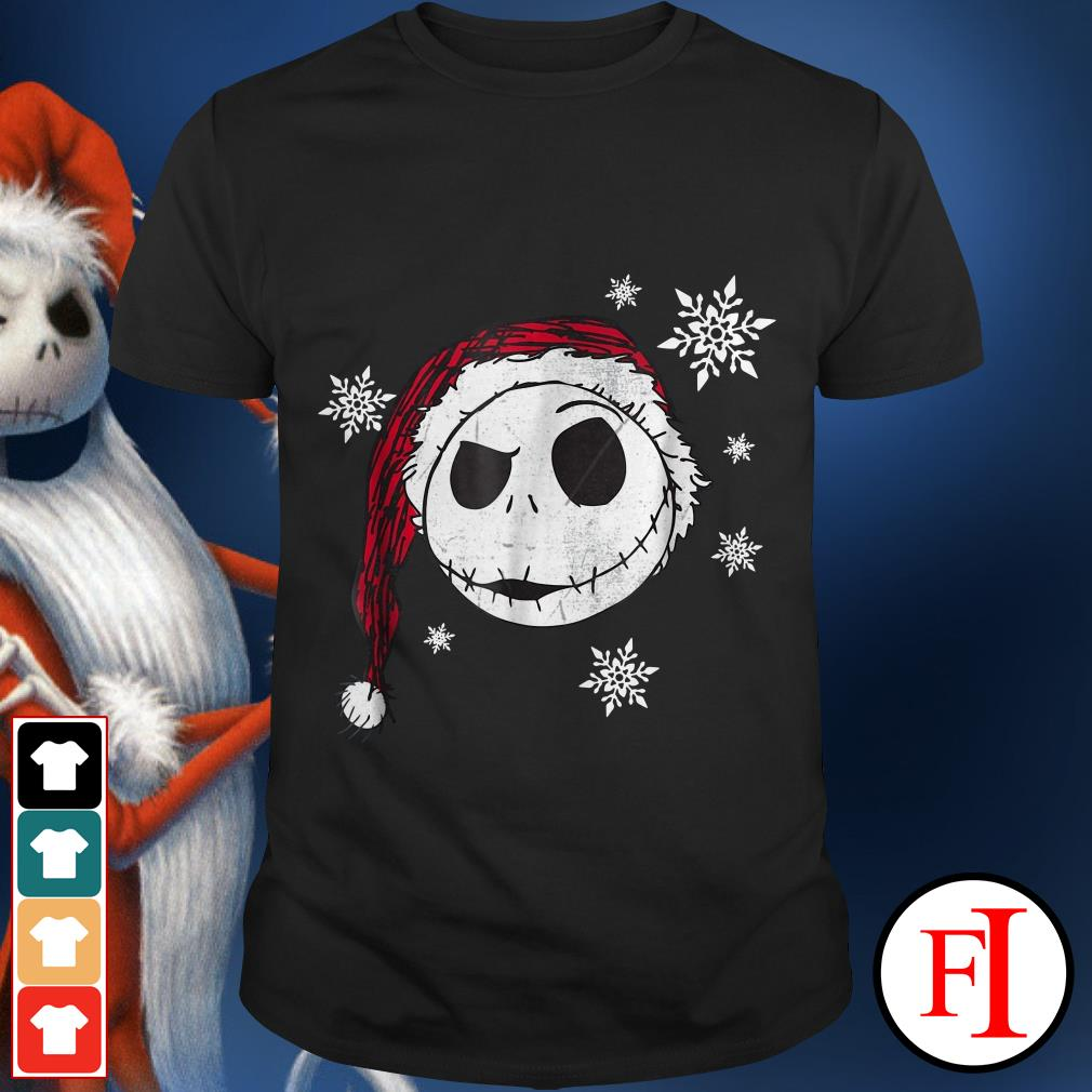The face Santa Jack Skellington Christmas shirt