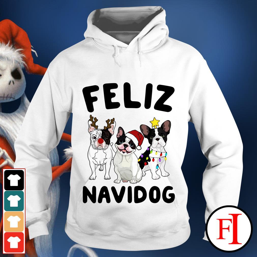 Feliz Navidog French Bulldog Hoodie