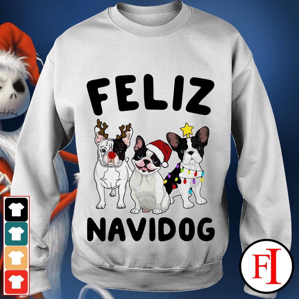 Feliz Navidog French Bulldog Sweater