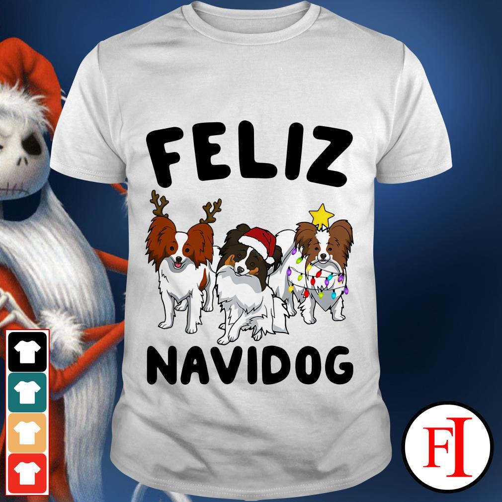Feliz Navidog Papillon shirt