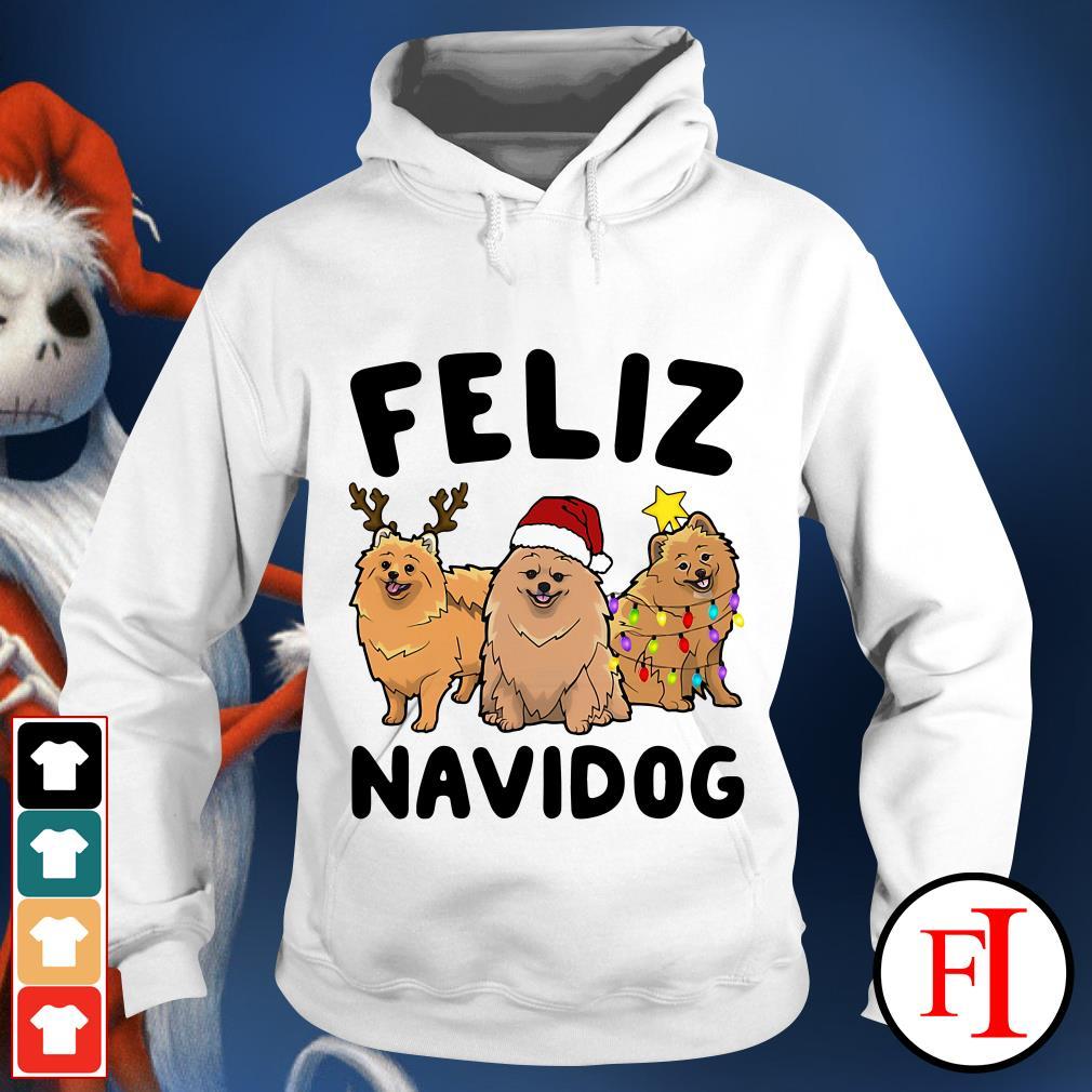 Feliz Navidog Pomeranian Hoodie