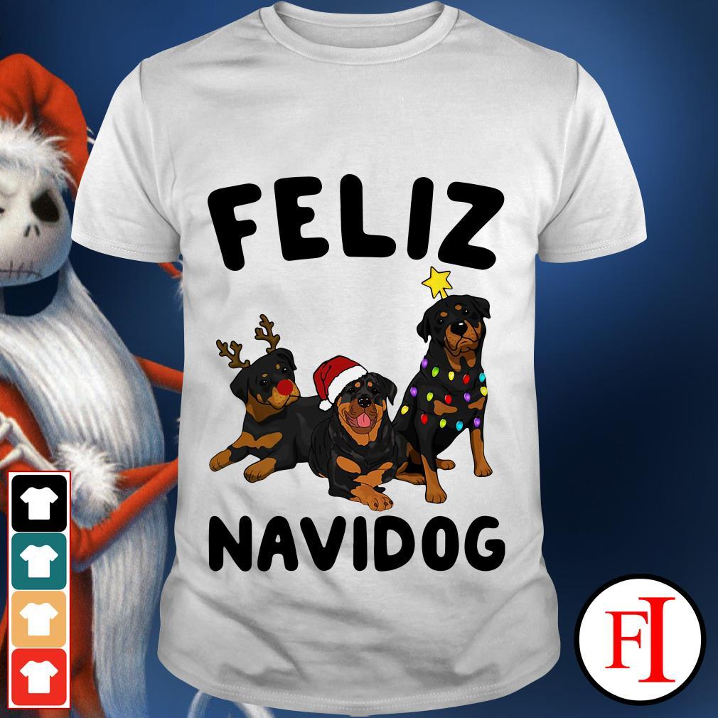 Feliz Navidog Rottweiler shirt