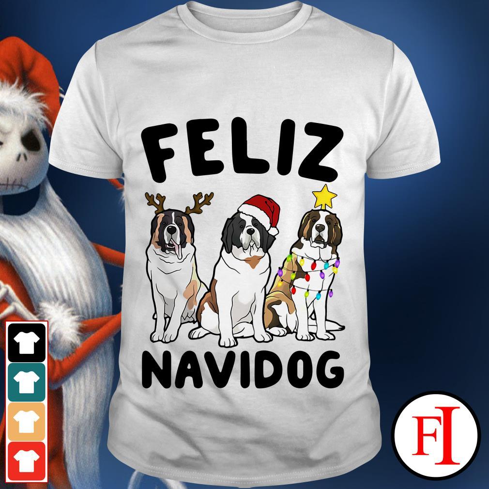 Feliz Navidog St Bernard shirt