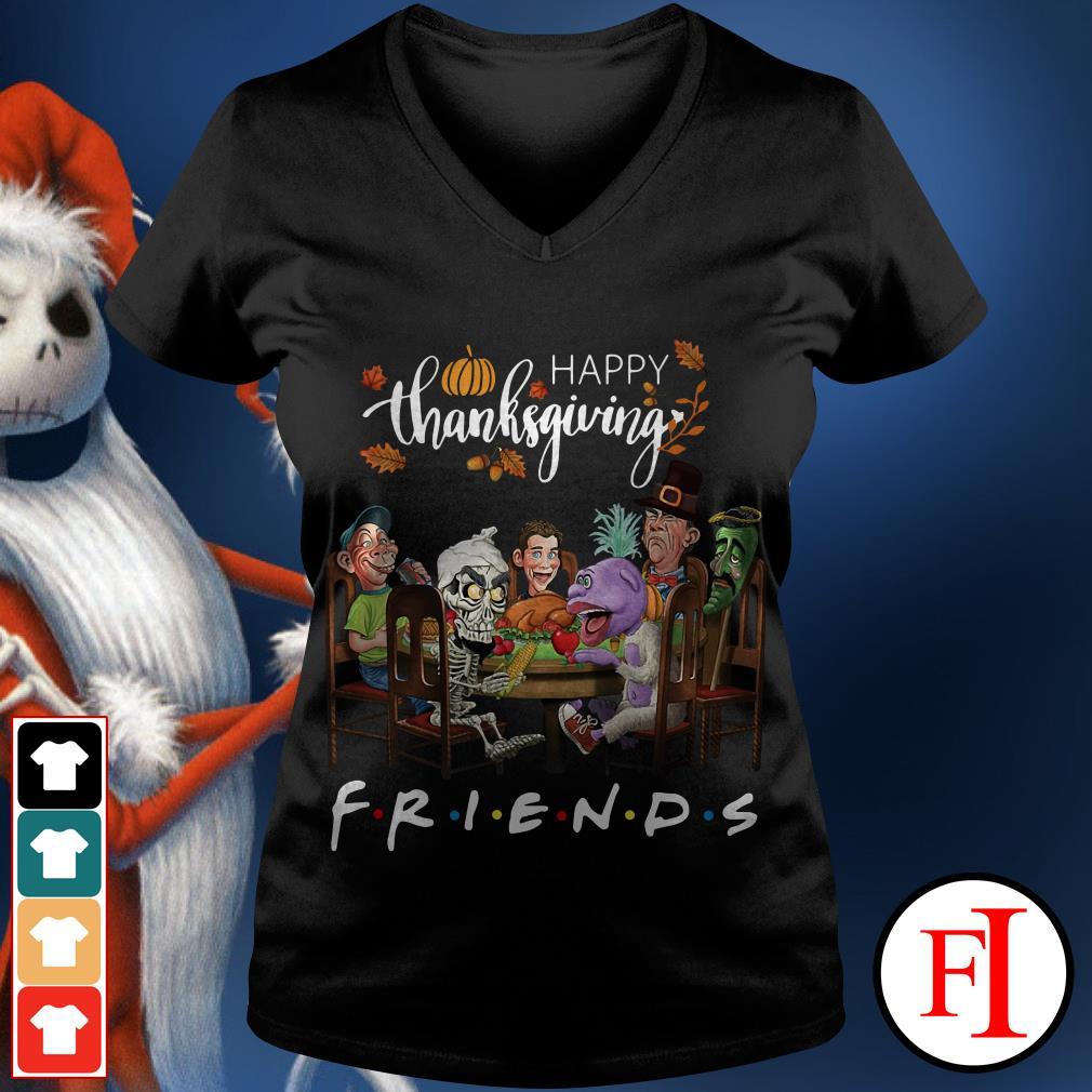 Friend TV show happy thanksgiving V-neck t-shirt
