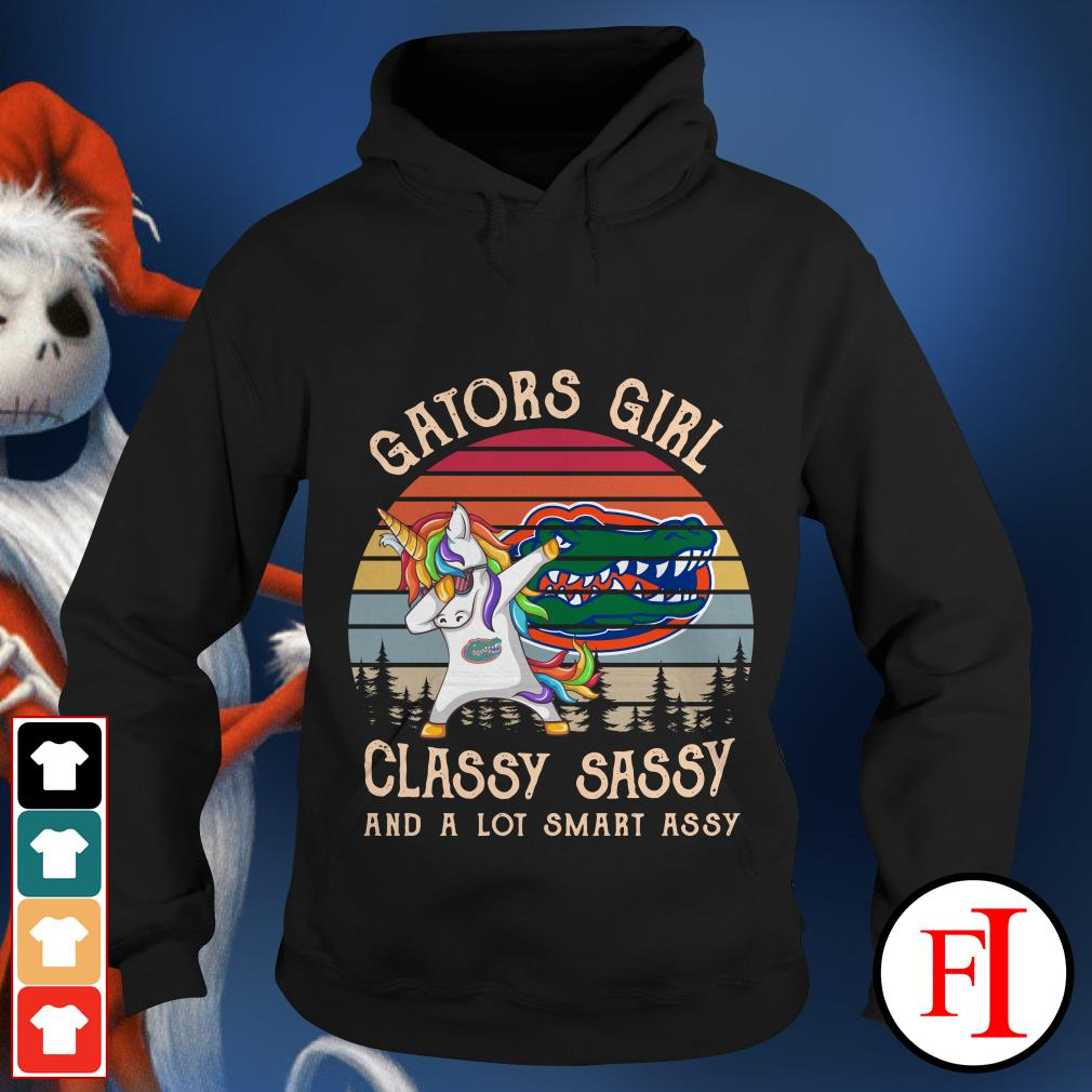 Gators Girl Classy Sassy and a lot Smart Assy sunset Hoodie