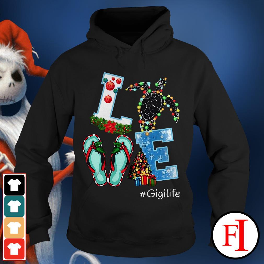 Gigilife Christmas Love turtle Hoodie