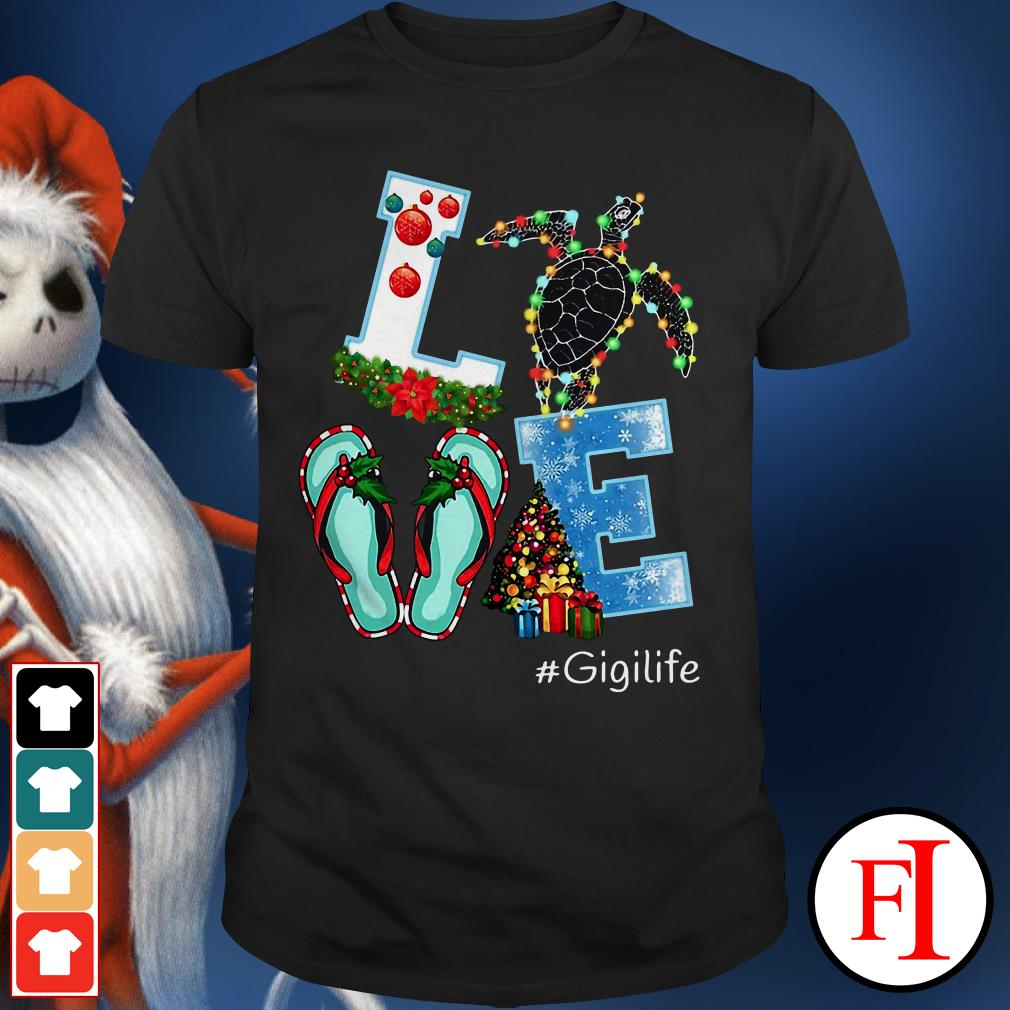 Gigilife Christmas Love turtle Shirt