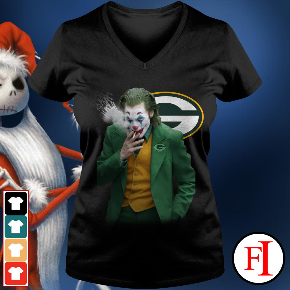 Green Bay Packers Joker Joaquin Phoenix V-neck t-shirt