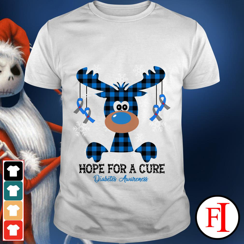 Hope for a cure diabetes awareness Reindeer shirt