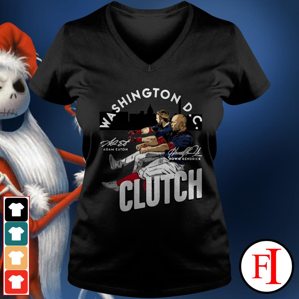 Howie Kendrick Washington DC Clutch Adam Eaton V-neck t-shirt