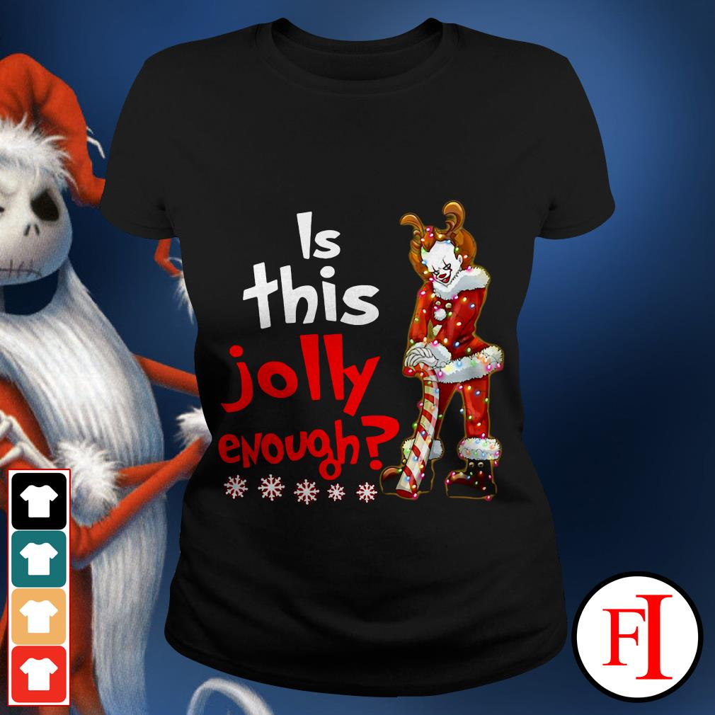Is this jolly enough Christmas Pennywise Santa Ladies tee