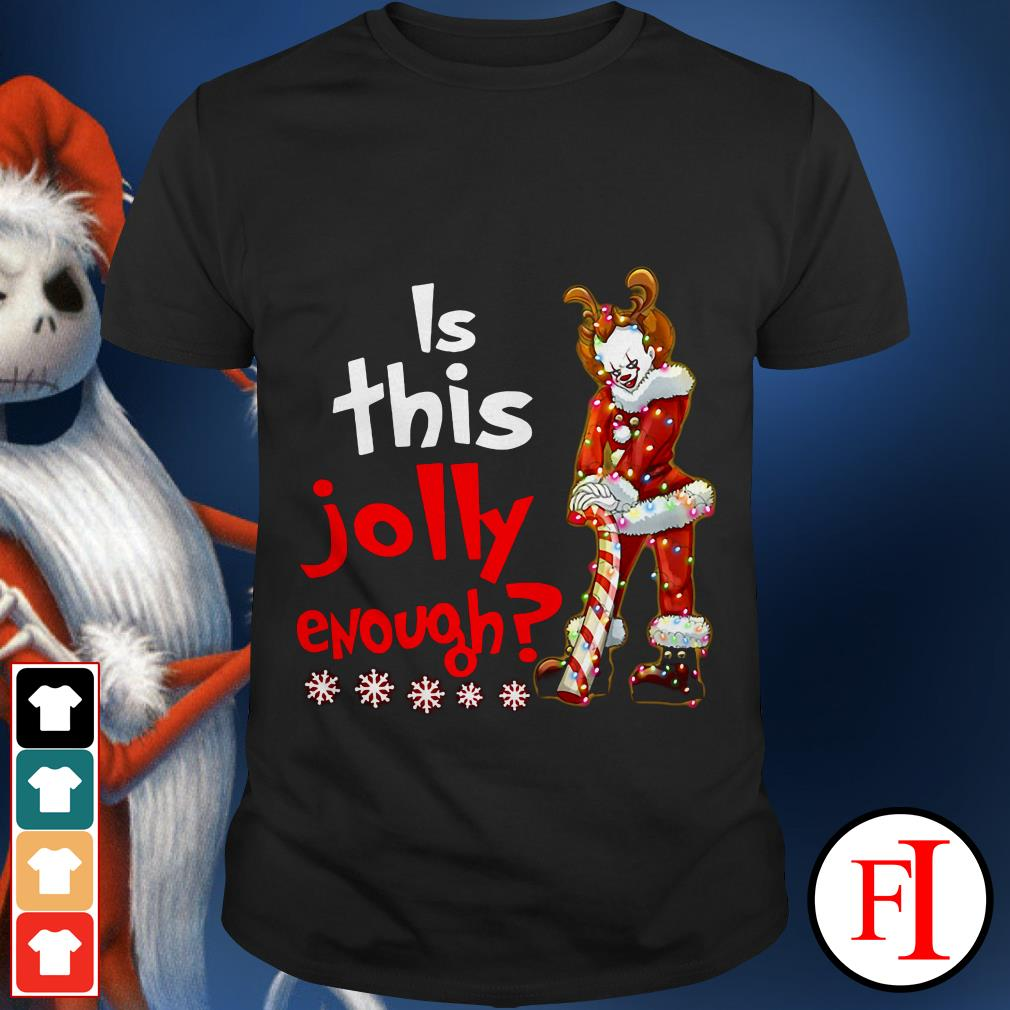 Is this jolly enough Christmas Pennywise Santa shirt