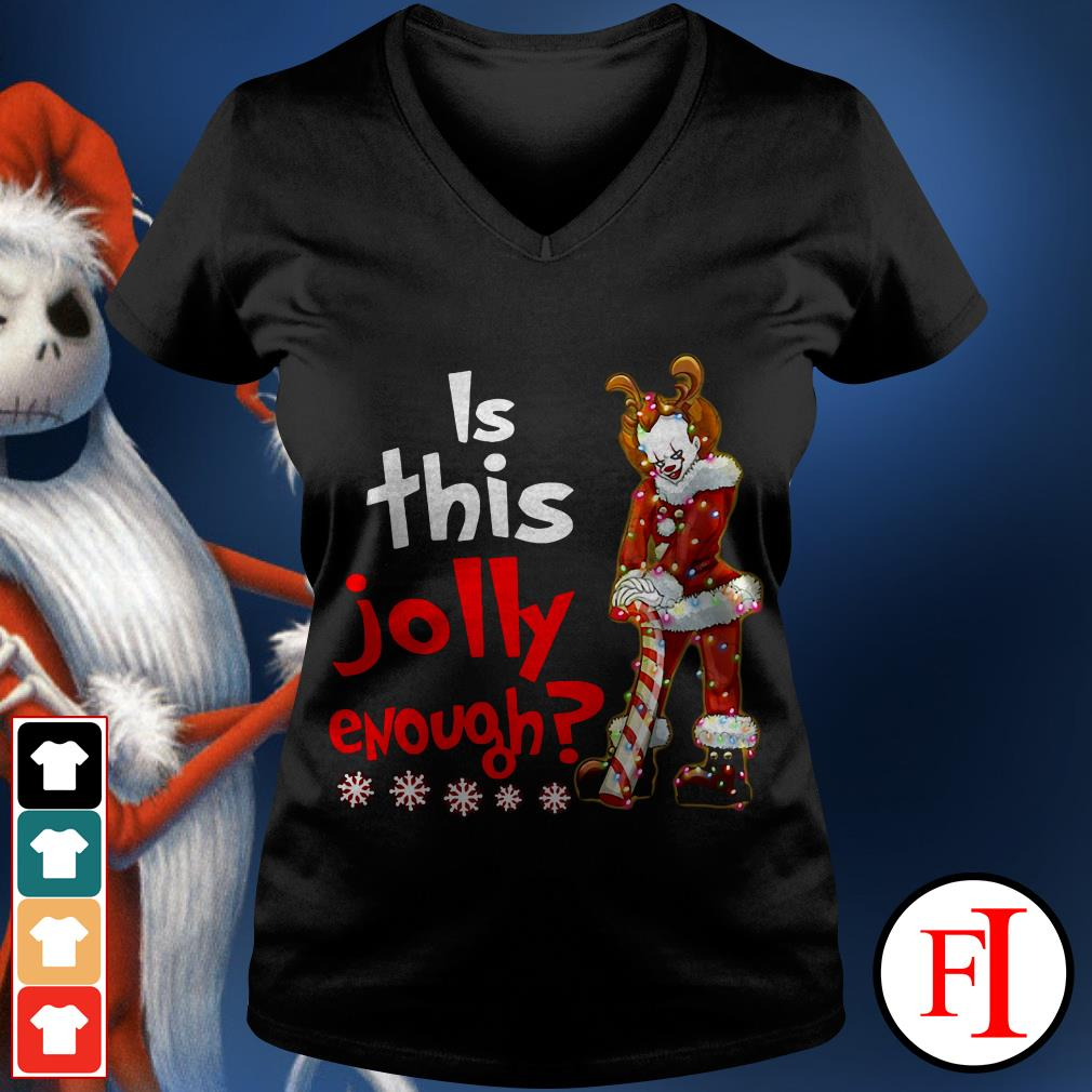 Is this jolly enough Christmas Pennywise Santa V-neck t-shirt